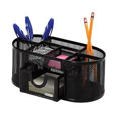 com rolodex mesh pencil cup organizer four compartments steel 9 1 3 x4 1 2 x4 black 1746466 pencil holders office s