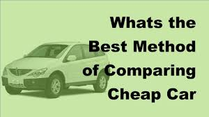 2017 auto insurance whats the best method of comparing car insurance quotes