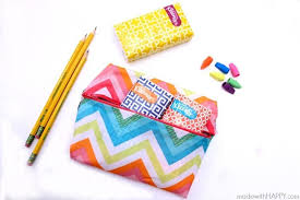 you won t believe how incredibly easy it is to whip up this bright no sew pencil case there s a handy tutorial that walks you