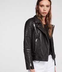 women s papin leather biker jacket black image 1