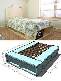 diy platform beds twin storage bed easy do it yourself bed projects step