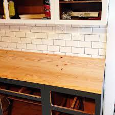 diy wood plank kitchen countertops. \ diy wood plank kitchen countertops