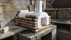 latest wood fired pizza oven plans with impressive checkmark landscaping outdoor diy wood fired brick pizza