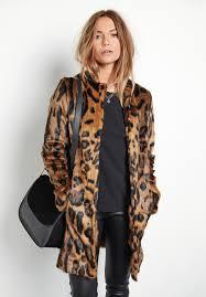 hush leo faux fur coat