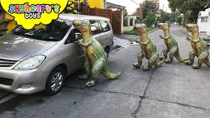 <b>Inflatable TREX</b> ARMY Nerf War - Skyheart Daddy escapes house ...