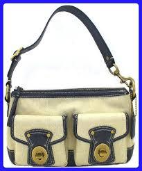 Coach Legacy Medium Khaki Signature Shoulder Bag - 13102 - Top handle bags  ( Amazon Partner-Link)