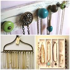 diy organizing necklaces organize l 1e6cee8ced179156 12 best way to hang