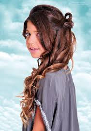 Teen Girls Hair Style long curled and looped teen girls hairstyle for festivities and 7351 by wearticles.com