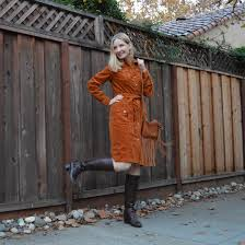 i feel like fall personified in this spicy sienna corduroy dress from metrostyle