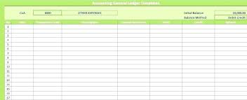 Ledger Template For Excel Ledger Accounts Template General Ledger Template 7 Free Accounting