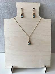 Jewellery Display Stands Uk Unique Wooden Jewellery Display Stand Necklace Display Earring Display