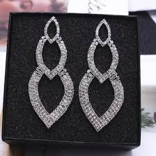 Shop EK673 <b>New Fashion</b> Chain Tassel Pendant Earrings <b>Crystal</b> ...
