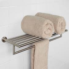 Bathroom Shelves Glass Wood And Marble Shelves Signature Hardware - Bathroom towel bar height