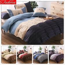blue stripe duvet cover pillow case bedding set single full double queen king size quilt comforter bedspreads 150x200 230x260 cm cabin bedding custom