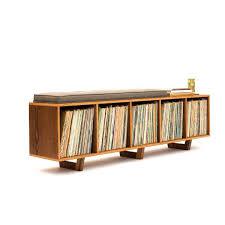 vinyl lp storage bench lo fi edition with mid century modern stylings 950 lp storage furniture uk vinyl record storage furniture vinyl record storage furniture ikea
