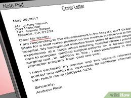 Do You Need An Address On A Cover Letter How To Address A Cover Letter 9 Steps With Pictures Wikihow