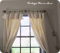 Diy Curtains Vintage Home Love Rope Curtain Rod And Diy Curtains