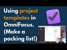 3 Templates How To Use Project Templates In Omnifocus 3 To Save Time