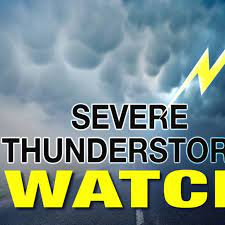 UPDATE: Severe thunderstorm watch comes ...