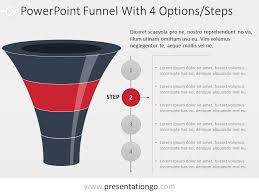 Funnel Powerpoint Template Free Free Powerpoint Layered Funnel Process 4 Stages