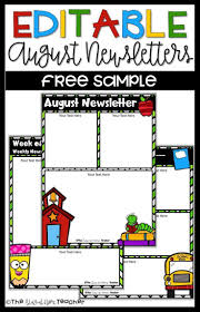 Teachers Newsletter Templates 002 Free Newsletter Templates For Preschool Teachers