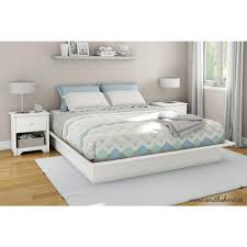 white metal platform bed. Delighful Bed South Shore Step One KingSize Platform Bed In Pure White Throughout Metal T