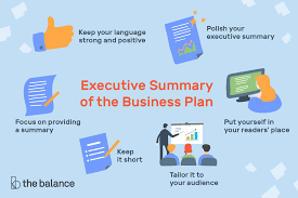 Operation Plan Outline Executive Summary Of The Business Plan