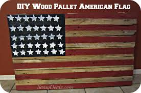 diy wood pallet american flag decoration project