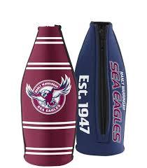 manly sea eagles nrl long neck tallie beer bottle cooler holder wine bottle