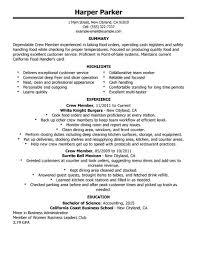 Cover Letter For Restaurant Team Member Alluring Sample Resume