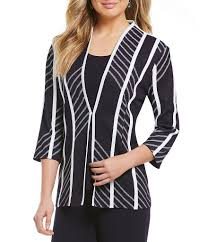 Patterned Blazer Womens Cool Jackets Womens Misook Modified Mandarin Collar Patterned Jacket