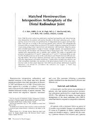 Pdf Matched Hemiresection Interposition Arthroplasty Of The