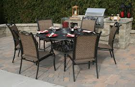 patio table and chair set patio furniture round table made of metal with