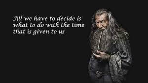 Quotes About Time Magnificent Gandalf Time Quote Inspirational Quotes Timer