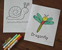 This free printable 'catch a bug' game is easy to put together and fun to play. Free Bug Coloring Pages