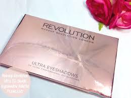 makeup revolution ultra 32 shade eyeshadow palette in flawlesakeup look