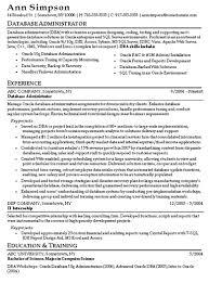 Download Oracle Database Administrator Resume Sample Diplomatic