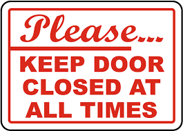 please keep door closed sign g1910 by safetysign