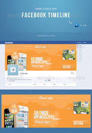 Indie Cloud App Facebook Timeline Template By Cause | Graphicriver
