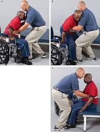 transfer patient from bed to wheelchair left sided weakness chair horizontal transfers mobility in context f a davis pt