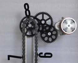 clocks made from bicycle chains harley