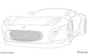 Coloriage Dessiner Ferrari Imprimer