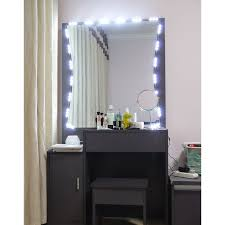 best lighting for makeup vanity. led lights mirror set 10ft makeup vanity wdimmer wireless controller best lighting for