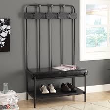 Beadboard Entryway Coat Rack Furniture of America Akayla Industrial Style Large Coat Rack Bench 92