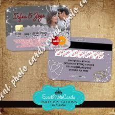 Credit Card Party Invitations Wedding Credit Card Invitations Wedding Invite Or Favor Any Etsy