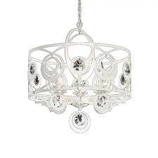 schonbek wb1006n 06s gwynn 6 light crystal chandelier in white with clear crystal from swarovski