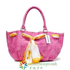 Pink Coach Embossed Scarf Medium Totes