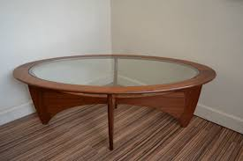 vintage retro g plan astro oval coffee table danish style in