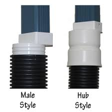 downspout adapters are used to connect rain gutter downspouts to corrugated hdpe drainage pipes all pvc construction resists weather and abrasion from weed
