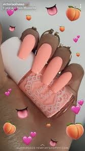 Peach Nail Designs Pinterest Pinterest Anyra_h In 2019 Peach Acrylic Nails Pink